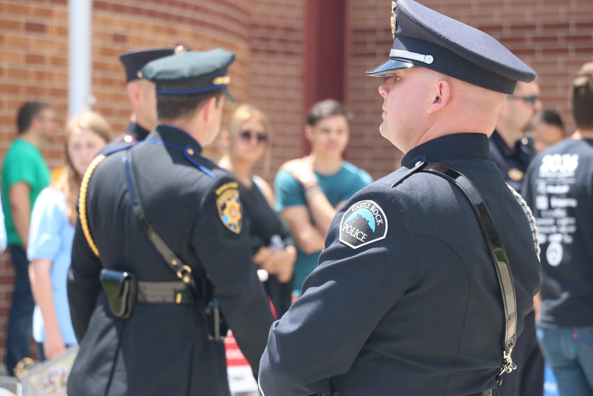 Law enforcement from across the Denver metro area gathered at Cherry Hills Community Church on May 15 for a celebration of life service for Kendrick Castillo, who was killed in a May 7 shooting at STEM School Highlands Ranch.