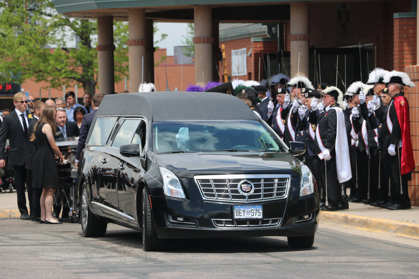 Dozens of Knights of Columbus assist in the funeral of Kendrick Castillo, who was killed in a May 7 shooting at STEM School Highlands Ranch. The service took place at St. Mary Catholic Parish on May 17.