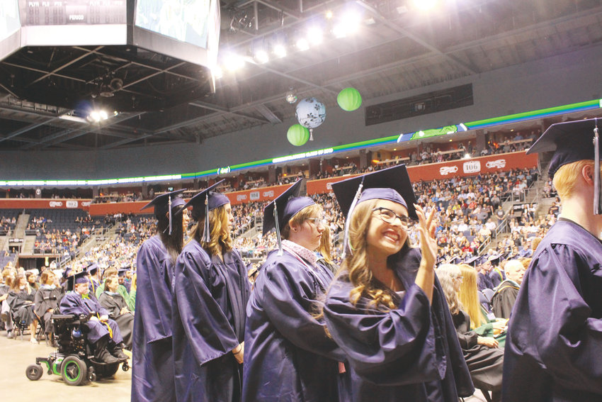 Nothing but smiles at the Standley Lake High School graduation in Broomfield.