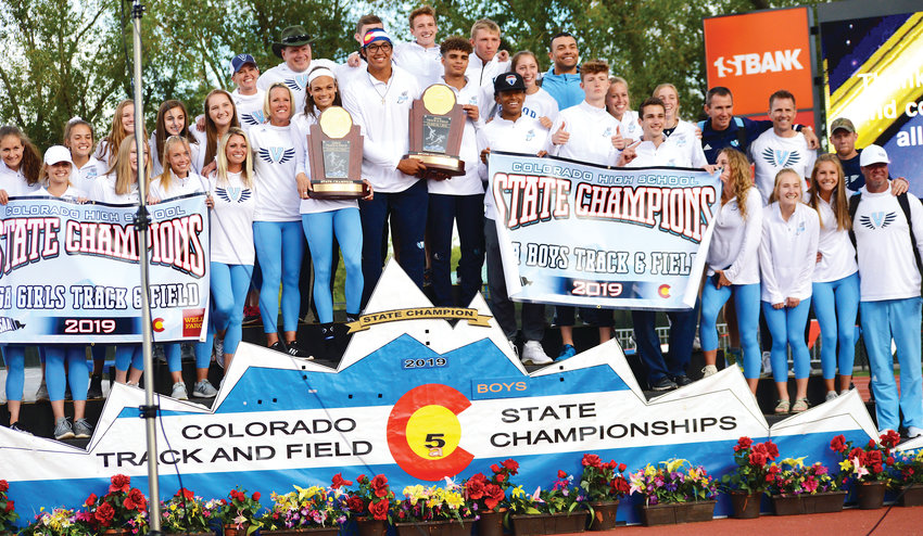 Valor Christian won both the girls and boys Class 5A team titles at the CHSAA State Track Championships held May 16-18 at Jeffco Stadium.