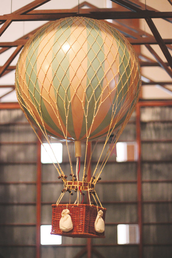 "A model of the ""General Myer,"" a hydrogen-filled observation balloon once housed at Fort Logan."