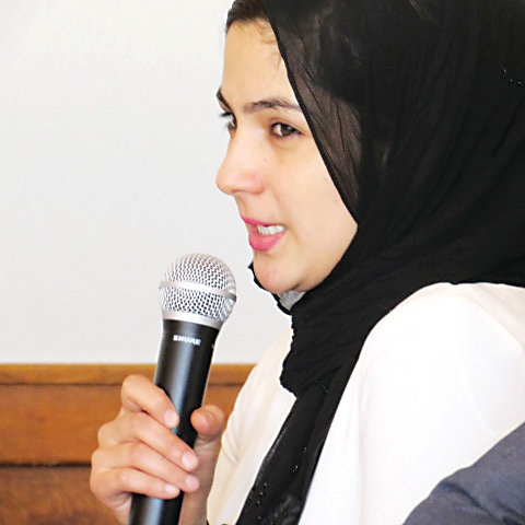 Lisa Aryan from Afghanistan was one of three speakers at the annual Immigrant Pathways Colorado's annual luncheon on May 3.