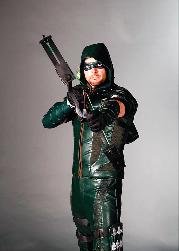 Jason Alder cosplays as the Green Arrow for Denver Pop Culture Con.
