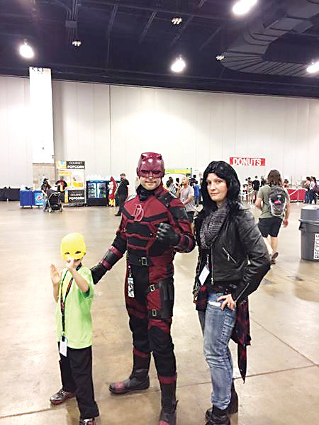 The Alder family - from left Ash, Jason and Kendra - say one of their favorite parts of the annual Denver Pop Culture Con is cosplaying as some of their favorite characters. Planning for their outfits can begin as early as January.