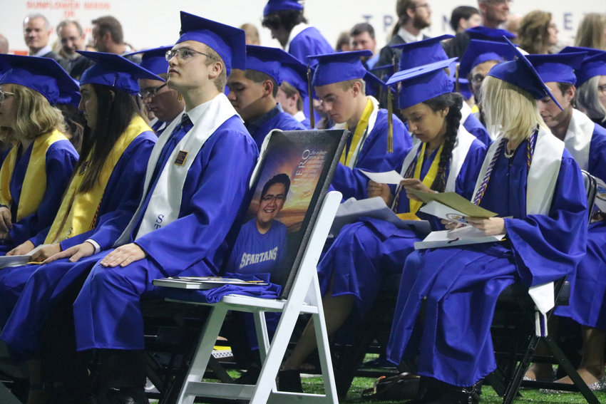 Kendrick Castillo is remembered at the May 20 commencement ceremony for STEM School Highlands Ranch graduates. Castillo was the sole fatality in a school shooting on May 7.