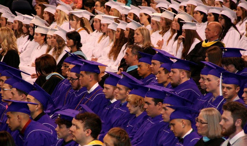 Arvada West High School's Class of 2019 celebrates its commencement on May 17 at the 1st Bank Center in Broomfield.