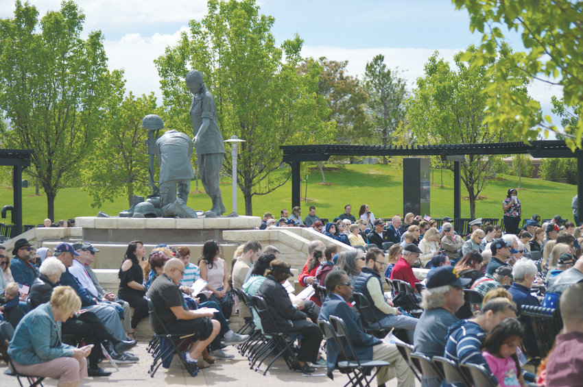 More than 100 filled the City of Westminster's Armed Forces Tribute Garden May 18 to mark the city's annual Armed Forces Day Commemoration. The day honors anyone who serves in the U.S. Military, past, present or future.