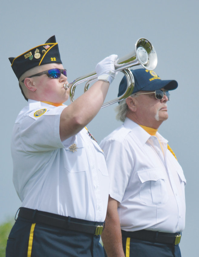 A bugler from the American Legion Posts 11-11 and 22 plays taps during the City of Westminster's annual Armed Forces Day Commemoration May 18.
