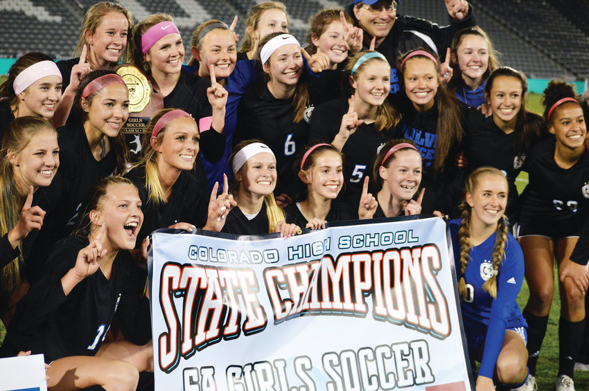 Grandview's girls soccer team defeated Arapahoe 2-1 on May 22 at Dick's Sporting Goods Park to win the Class 5A state championship. It was the fourth state title in the past five seasons for the Wolves.