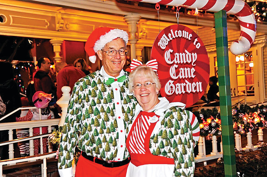 Prior to volunteering at the Highlands Ranch Mansion, Paul and Sandy Chamberlin worked at Walt Disney World during the holiday season. They loved being around the kids, they said.