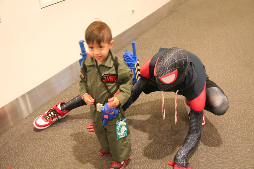 Three-year-old Greyson Cabrera from Aurora had his first experience as a cosplayer at Denver Pop Culture Con on Saturday, June 1. He also had the chance to meet some of his favorite heroes, like Spider-man.