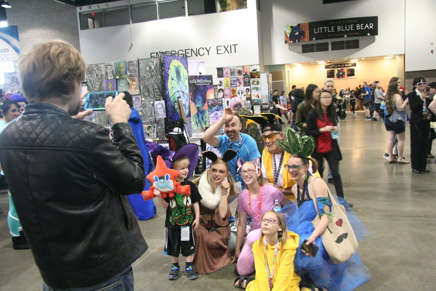 Entire groups of family and friends get in on the cosplay act at Denver Pop Culture Con on June 1.