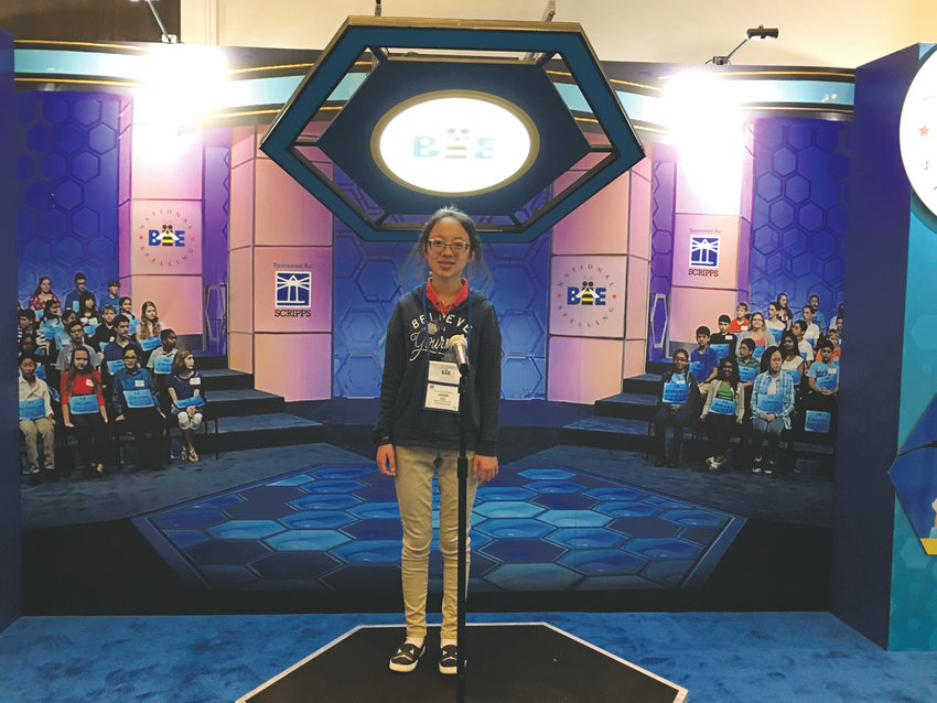 Wayne Carle Middle School eighth-grader Lauren Guo competed in her second Scripps National Spelling Bee this year.