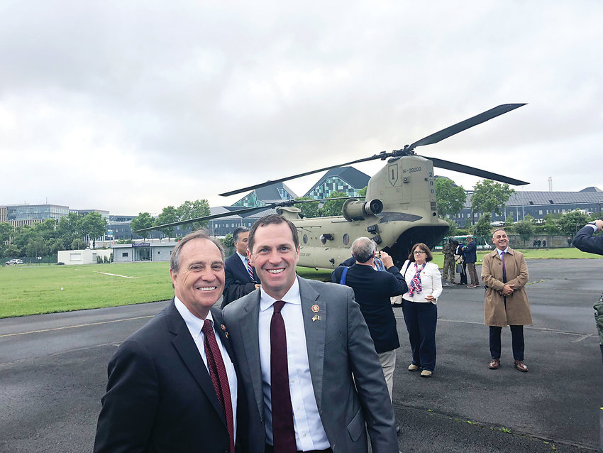 Reps. Ed Perlmutter (CO-07) and Jason Crow (CO-06) are pictured during the bipartisan congressional delegation trip to Normandy, France to commemorate the 75th anniversary of the Allied D-Day invasion. The congressional delegation was also joined by President Donald Trump as part of his current European trip.