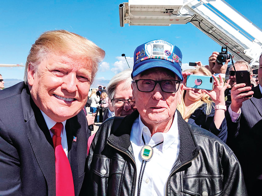 Jack Plylar, a 97-year-old Elbert County Republican, met President Donald Trump when Trump was in town for the commencement ceremony at the Air Force Academy.