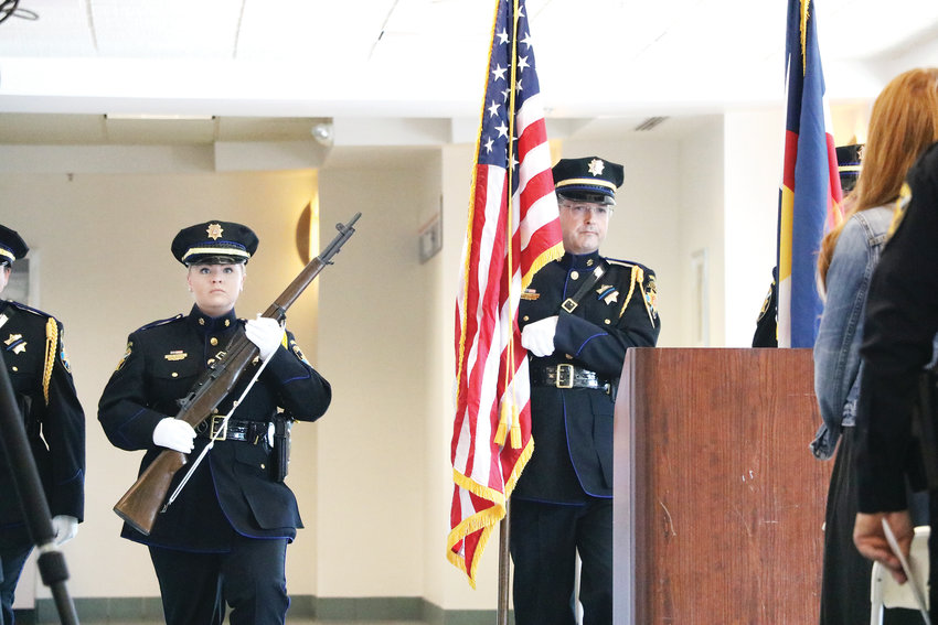 "The Douglas County Honor Guard kicks off a June 17 ceremony dedicating the Highlands Ranch Post Office to fallen deputy Zackari Parrish. The post office is now named ""Deputy Sheriff Zackari Spurlock Parrish, III, Post Office Building."""