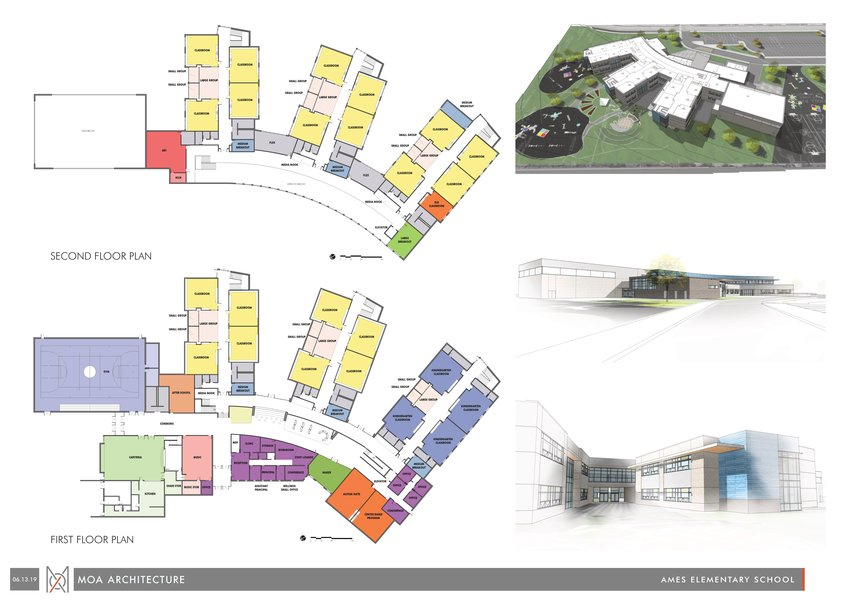 Preliminary plans for the new Ames Elementary School.