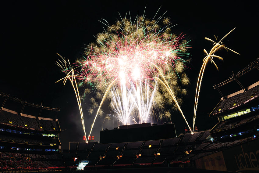 Fireworks at Broncos Stadium at Mile High.