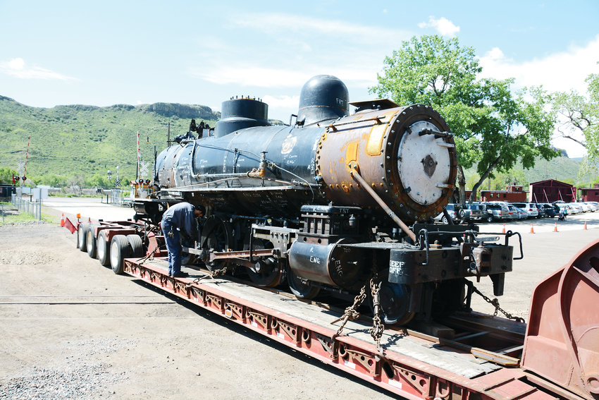 Rio Grande Southern Locomotive No. 20 pulls into its home at the Colorado Railroad Museum in Golden after undergoing restoration for 12 years at the Strasburg Rail Road in Pennsylvania to get it operational again. It returned to Golden on June 4 and the museum expects it to be fully operational sometime in 2020.