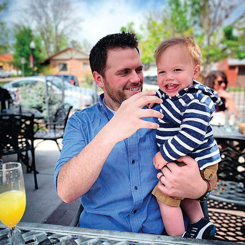 "Geoff Grandi bonds with his son, Woods, after starting treatment at West Pines Behavioral Health. ""I've been taking more time for myself and realizing I, as a person, am important,"" he said."