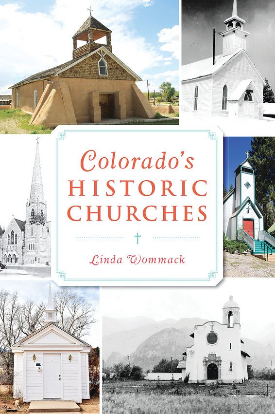 "Cover of ""Colorado's Historic Churches"" by Linda Wommack."