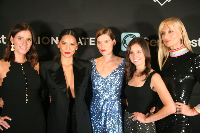 "From left, Kaily Smith Westbrook (co-founder of SeriesFest), ""The Rook"" actress Olivia Munn, ""The Rook"" actress Emma Greenwell, Randi Kleiner (co-founder of SeriesFest) and ""The Rook"" actress Joely Richardson at the show's premiere event on June 21."
