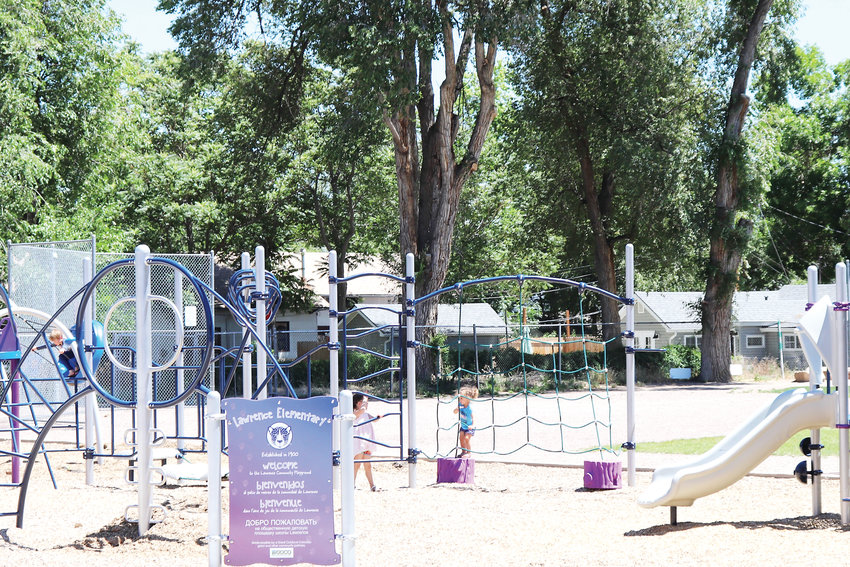 The playground at Lawrence Elementary School, which will be monitored by a security camera installed at the end of June.