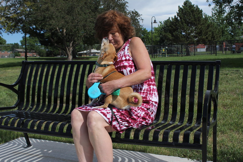 One thing Labriola enjoys about her new apartment in Arvada is the sense of quiet and a park. She walks her dog Charlie to the dog park multiple times a day.