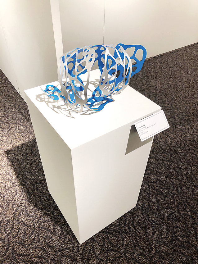 """Komorebi 2"" by Jane Guthridge in her exhibit, ""Play of Light,"" at the Littleton Museum."