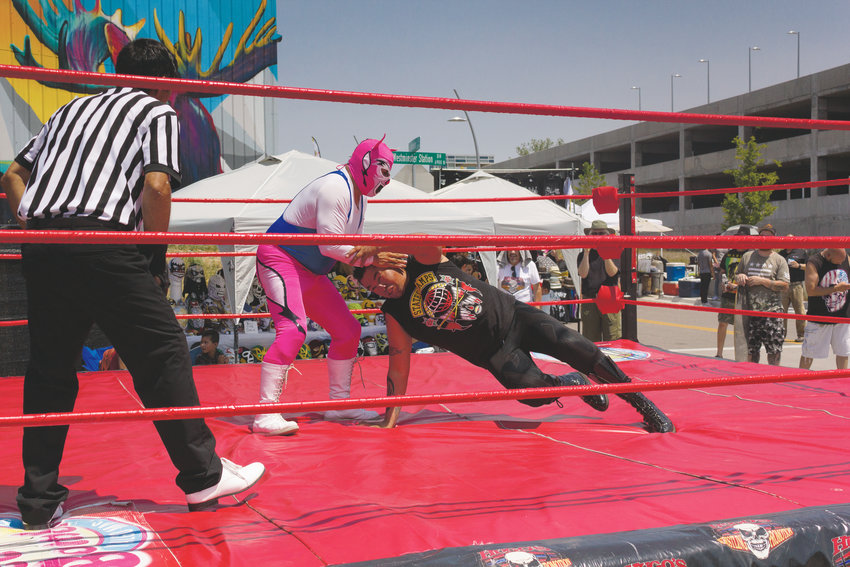 Luchadores will don their masks and take to the ring July 20 at Westminster Station, 6995 Grove St. as a part of the city's fourth annual Latino Festival. The wrestlers will demo some of their moves and be around afterwards to talk to fans.