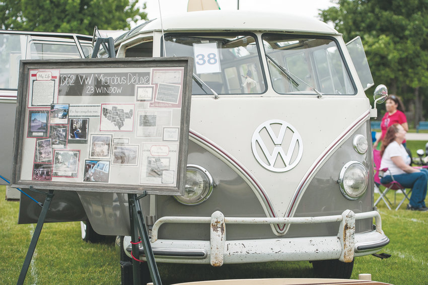 A 1962 Volkswagen Microbus was among the more unusual entries, at this year's Northglenn Car Show, held in conjunction with the city's Annual 4th of July celebration at E. B. Rains, Jr. Memorial Park. Terrence Miller of Lone Tree, teacher and head volleyball coach at Cherokee Trail High School, inherited the bus from his family.