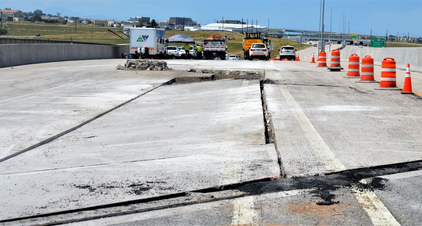 A crack in the U.S. 36 roadway about a quarter-mile south of Church Ranch Boulevard closed the southeastern bound roadway beginning July 12. Highway department officials said the road will remain closed through July 16 as the work to shore up the road continued.