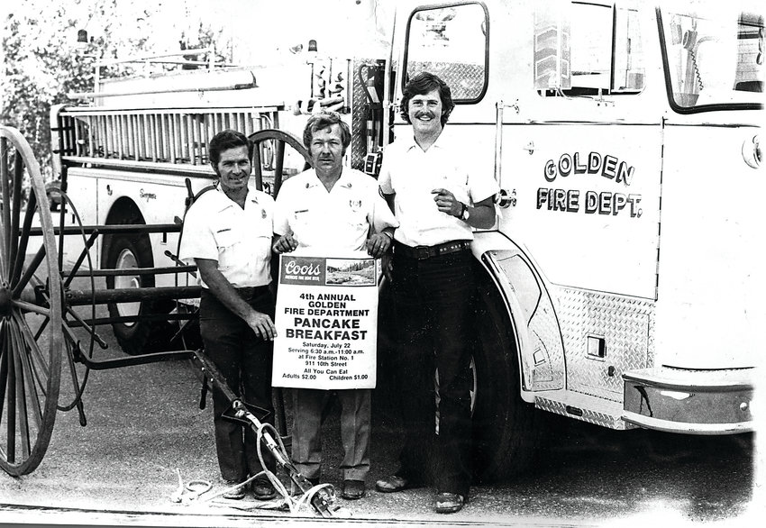 Three of Golden's firefighters promote the annual Pancake Breakfast in the 1970s. Now in its 45th year, the Golden Fire Department's annual Pancake Breakfast takes place from 6–10 a.m. July 27 at Station 1, 911 10th St.