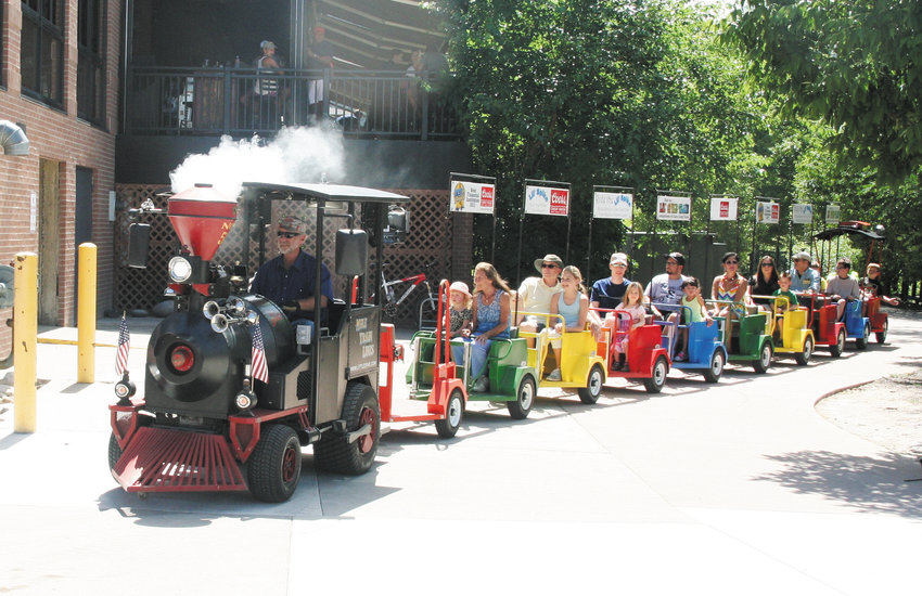 A train ride for children, which does a loop along the Clear Creek Trail is just one of the traditional activities during Buffalo Bill Days.