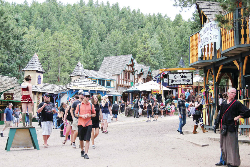 The Colorado Renaissance Festival is located near Larkspur in a permanent village built for the event.