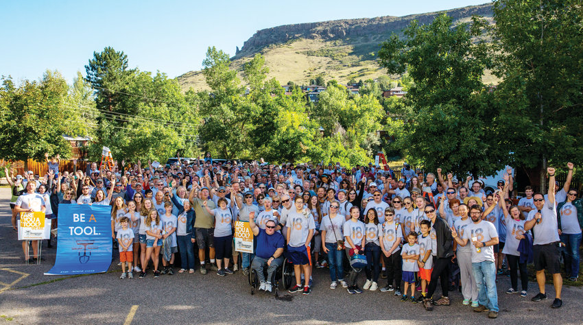 More than 450 volunteers gathered in Golden to participate in the 2018 Be a Tool day of service event in 2018.