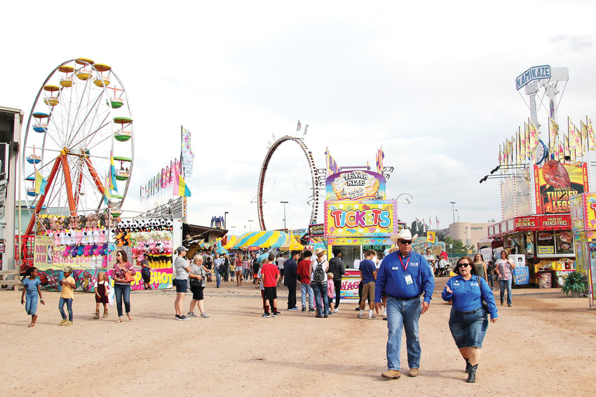 Crowds packed the Douglas County Fair & Rodeo carnival on Friday, Aug. 2.