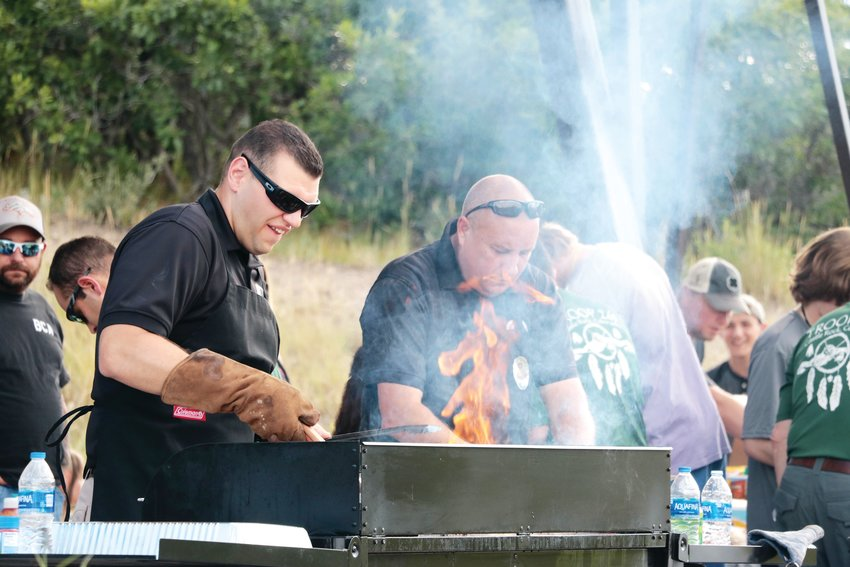 Grill masters kept people fed during the Castle Rock Police Department's National Night Out event on Aug. 6.