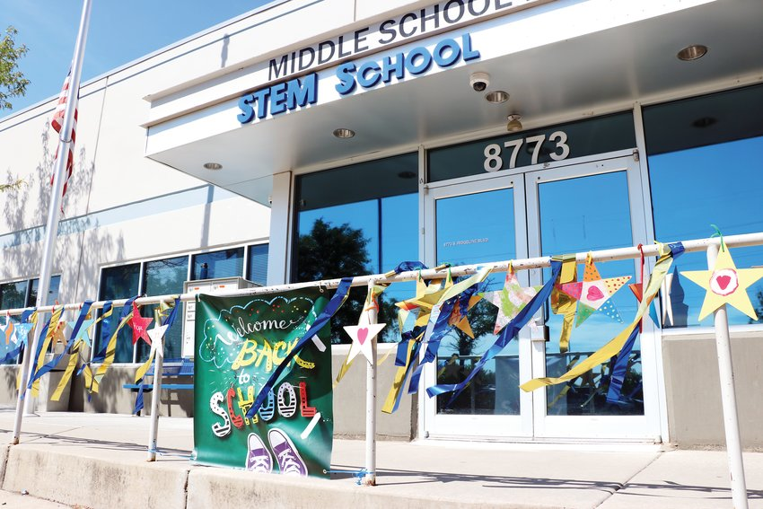 Students were welcomed back to STEM School Highlands Ranch with hundreds of stars, handpainted with words of encouragement. The first day was Aug. 7.