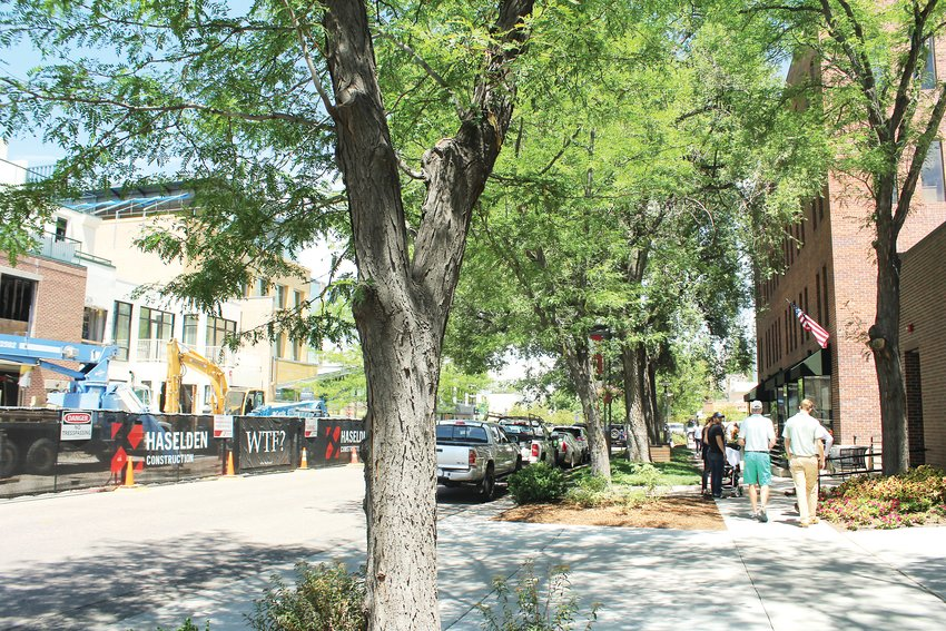 Although there has been a lot of construction in Cherry Creek North, Brian Phetteplace said the district's pedestrian traffic has remained steady. Phetteplace is the director of economic development for the Cherry Creek North Business District.