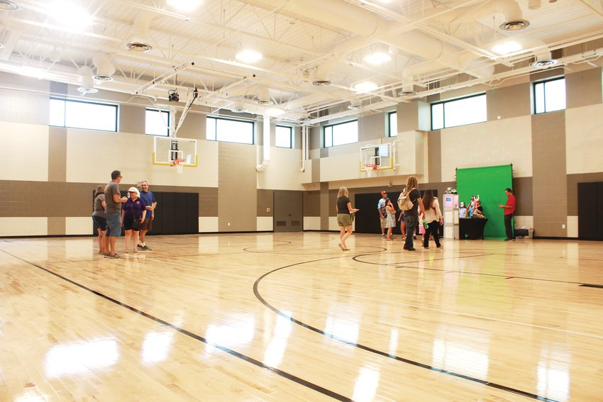 The gym inside Cherrelyn Elementary. The new building cost over $19 million and is 41,600-square-feet.