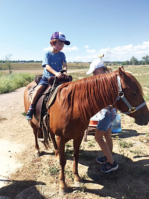 An Arvada Days attendee enjoys a pony ride at last year's event. The 2019 festival will also offer pony rides, as well as a petting zoo, fishing contest, Dutch cooking contest, and other attractions for both kids and adults.