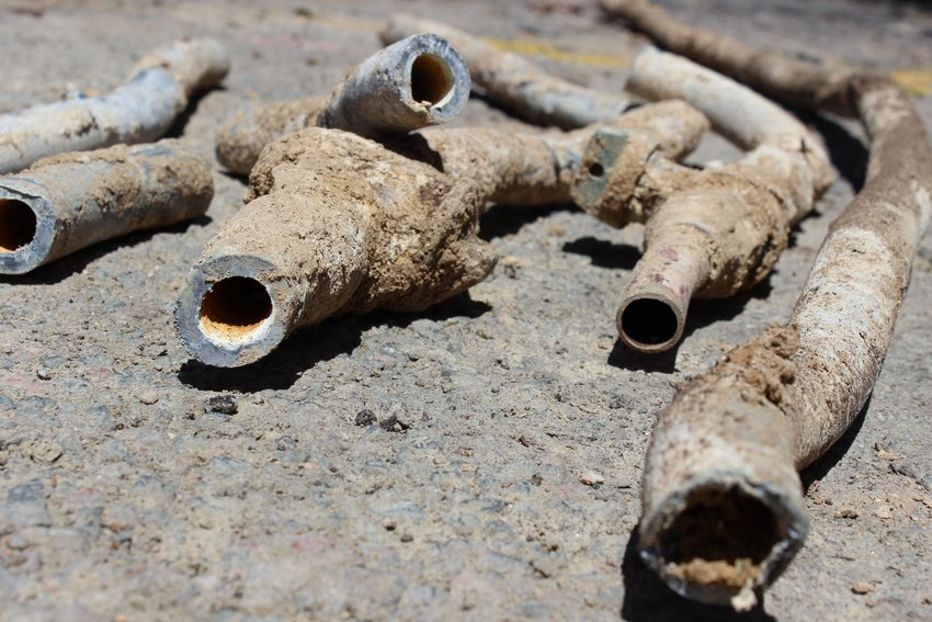 Water corrodes pipes such as these lead ones, which then causes lead to get in drinking water. Denver Water has created a proposal to remove all lead pipes from its system over the next 15 years.
