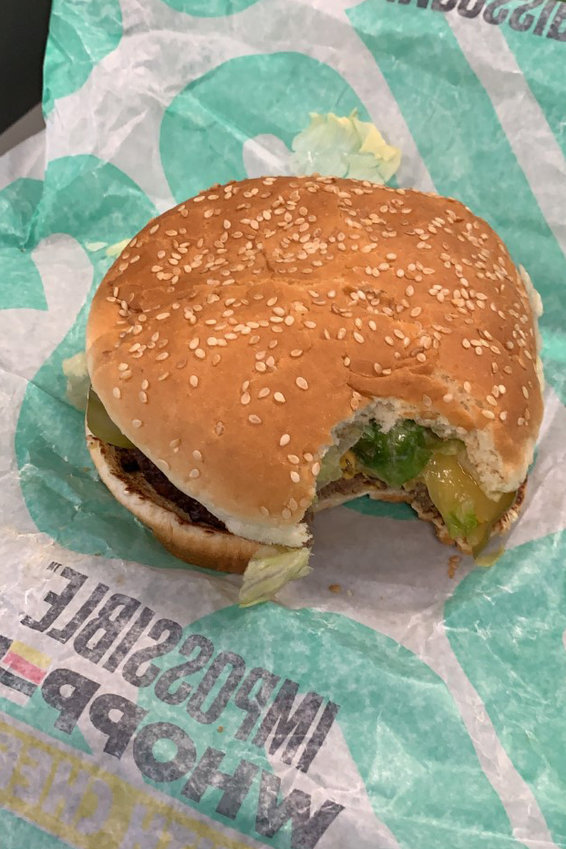 The Burger King Impossible Whopper does indeed look, smell and taste like a hamburger according to our newsroom taste tester.