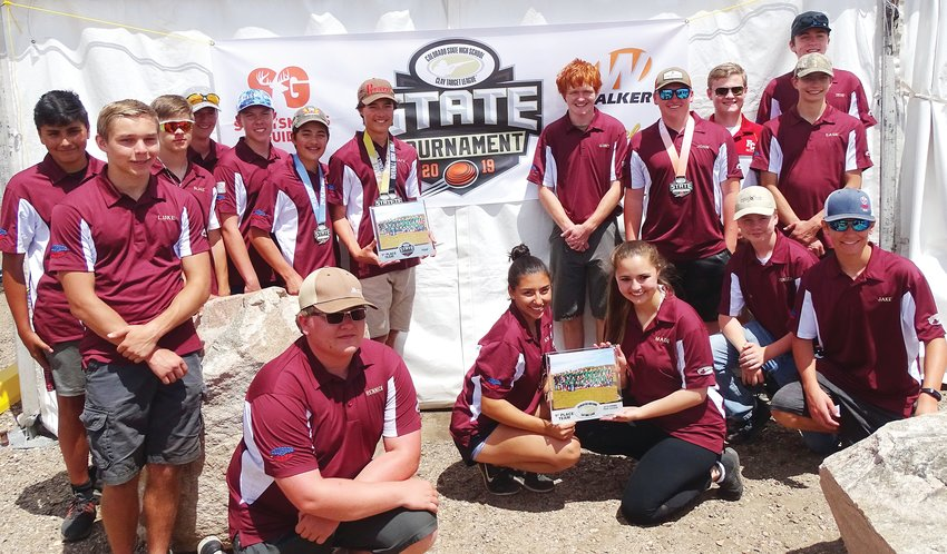 The trap shooting team from Faith Christian High School at the state tournament in 2019. After beginning as a club in 2018 and becoming a letter sport in 2019, the team saw 30 students participate last spring.
