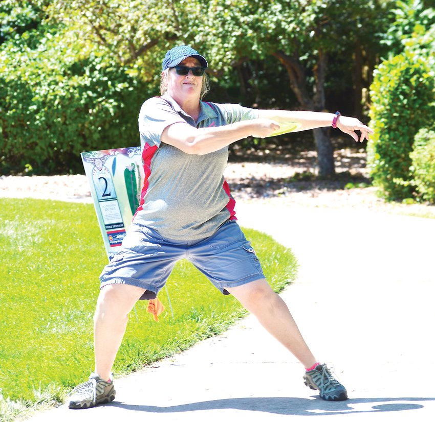 Michelle Burghardt of Littleton opened with an 8-under-par 67 and finished fourth in the Amateur Masters 40+ division of the Rocky Mountain Women's Disc Golf Championships held Aug. 2-4 in Superior, Colo.