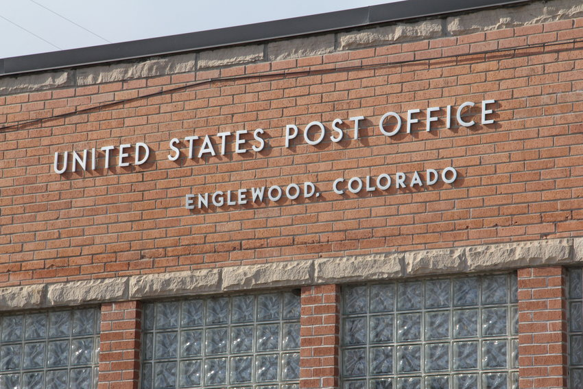 The post office at 915 W. Lehigh Ave. in Englewood, one of the cities whose name is carried by ZIP codes that also cover Centennial. ZIP codes often show names of cities whose boundaries fall outside the ZIP code area, causing confusion about addresses in the south Denver metro region.