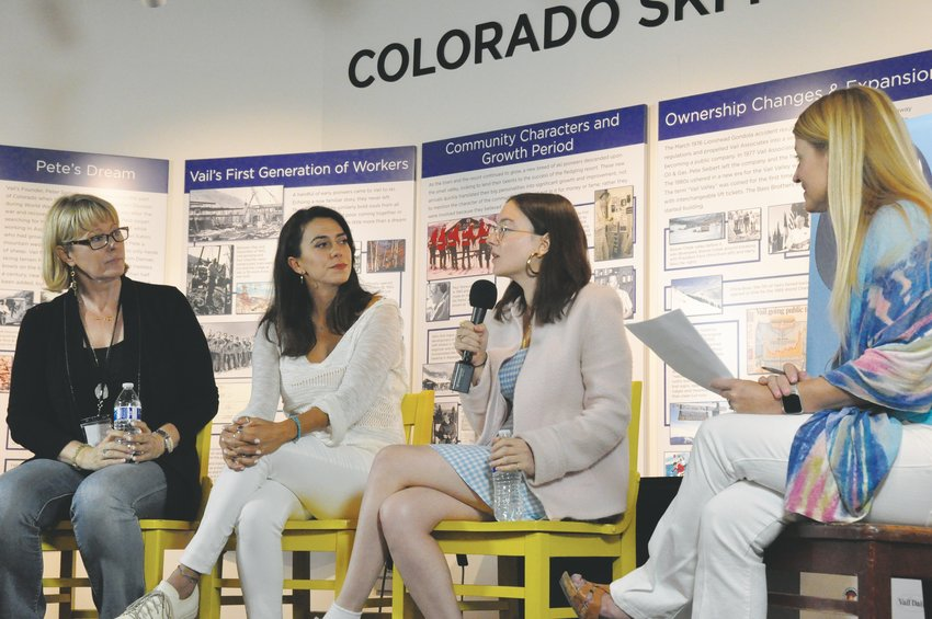 "From left, Kerry David (""Breaking Their Silence""), Haroula Rose (""Once Upon a River""), ""Rachel Wortell (""Romance Analyst"") and the Vail Daily's Tricia Swenson discuss the challenges and importance of making movies as part of the Vail Film Festival."