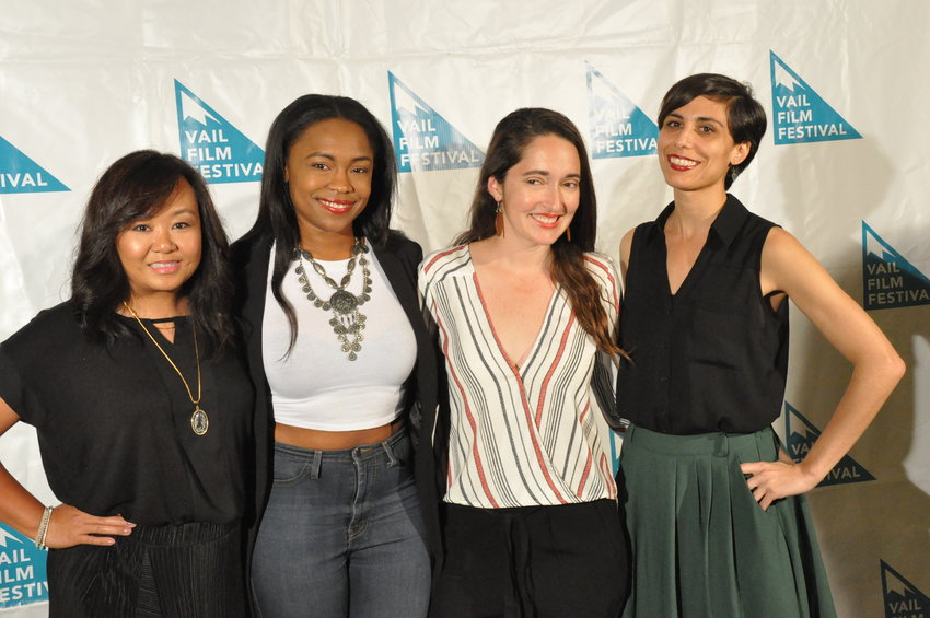 "From left, Natasha Chee, Candace Roberts, Maria Mealla and Bianca Beyrouti from the film, ""Bring Me An Avocado."""