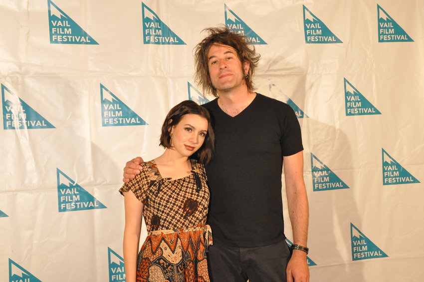 "Hannah Marks and Benjamin Kasulke from the film ""Banana Split."""
